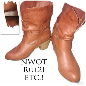 • ETC Rue 21   LIKE NEW   Ankle Cowboy Boots •